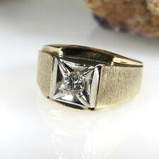 MEN'S 10K YELLOW GOLD SOLITAIRE DIAMOND RING 8.7 GRAMS .20CTW SIZE 10