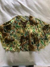 Luxe CHICO'S Pure Silk Embellished 'Chianti' Poncho-size L/XL 18/20? Multi BNWT