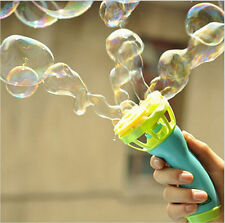 Kids Childhood Outdoor Game Water Fun Play Toy Hand Held Bubble Blower Gun JR