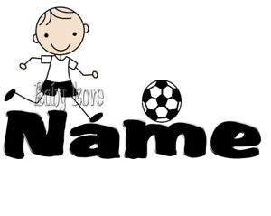 IRON TRANSFER PERSONALISED SMALL BOY SOCCER ball 10cm long