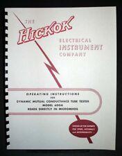 Hickok 600A 600-A Tube Tester Manual