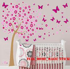 HUGE Combo Blossom Flower Butterflies Tree Wall Stickers Paper Art Decal