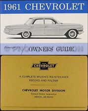 1961 Chevy Owners Manual and Envelope 61 SS Impala Biscayne Bel Air Chevrolet