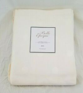 Belle Epoque 300 TC Dots 100% Combed Cotton Ivory Twin Bedskirt Bed Skirt NIP