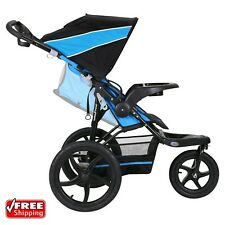 Baby Trend XCEL Jogging Stroller Mosaic Blue Lightweight Infant Carriage Buggy