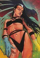 RAVEN / DC Comics Villains The Dark Judgment BASE Trading Card #75
