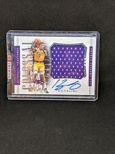 2018-19 National Treasures Kyle Kuzma Colossal Jersey Auto /99 Lakers Panini...