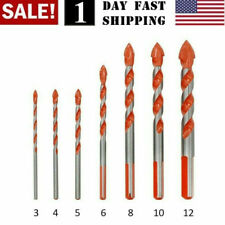 US Selle!  Multifunctional Drill Bits Ceramic Glass Punching Hole Working Sets