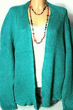 Strickjacke Gr. freesize smaragd-grün Fledermaus Strickjacke/Cardigan NEU