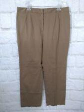 New Kasper women pant bronze brown stretch zipper pocketless size 16