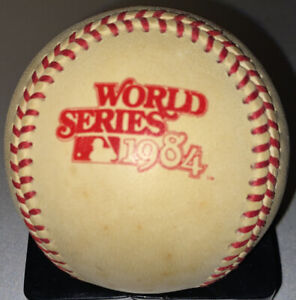 Vintage Rawlings Official 1984 World Series Baseball Haiti Stamp Detroit Tigers