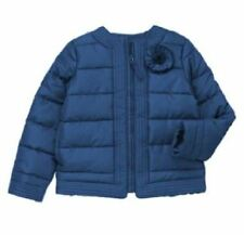 Crazy 8 Blue Jacket Coat Size 7-8 Enchanted Garden Quilted Girls New Winter