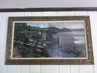 Very large Fil Mottola oil on board of Morro Bay. Nice piece.