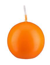 Kugelkerzen Orange, Auswahl aus 8 Größen, dt. Marken Qualitätskerzen, runde Kerz