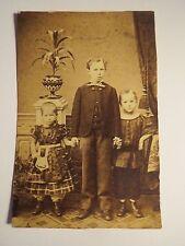 Carl & Rudolf & Mathilde Strohmeyer als Kinder / Foto-Abzug