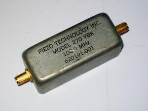 PIEZO TECHNOLOGY INC. 100 mhz bandpass filter mod. 270 VBK
