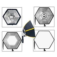 Photographic 50cm Speedbox Diffuser Speedlight Softbox Hexagonal with Adapter