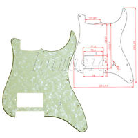 1 Light Green Pearl Electric Guitar Pickguard For Fender Strat 1 Humbucker 3 Ply