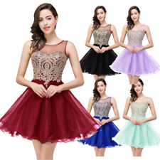 34f1b700 Stock Burgundy Homecoming Dresses Short Beaded Gold Applique Prom Party  Dress