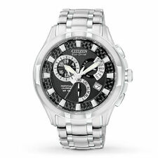 Men's Citizen BL8090-51E Eco-Drive Calibre 8700 Stainless Steel Black Dial Watch
