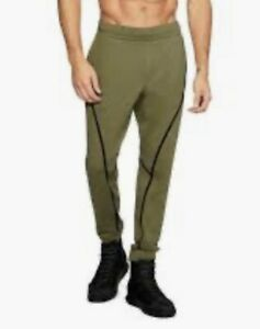 UNDER ARMOUR Sportstyle Fitted Olive Green Black Jogger SweatPants NEW Mens 2XL