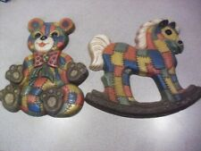 Two ! Foam Craft Children's Wall Plaques From 1979