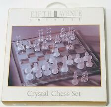 Fifth Avenue Crystal Chess Set New & Complete in Box Family & Kids Board Game