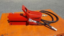 "Hydraulic Air Foot Pump 10,000psi With 1.5 Meters Hose & 1/4"" Fitting"