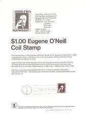 #7301 $1 Eugene O'Neill Stamp #1305C Souvenir Page