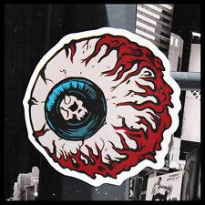 Sticker Autocollant Eye Guitare Frigo Moto Vélo Punk Rock Vintage