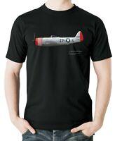 Flyingraphics Aviation themed T Shirt Republic P47D Thunderbolt 493rd FS.