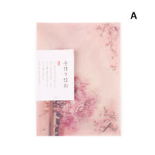 3Pcs Sakura Translucent Envelope Message Card Letter For Wedding Invitation ~