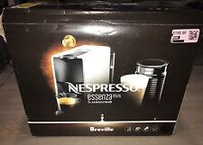 USED - BREVILLE NESPRESSO Essenza Mini Espresso Machine Aeroccino 3 Milk Frother