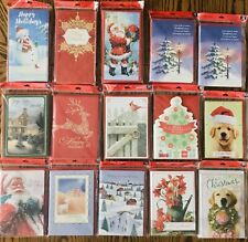Hallmark Christmas Cards and Money/Gift HUGE LOT Cards with Envelopes