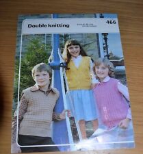 PHILDAR * DK * CHILDRENS SLIPOVERS KNITTING PATTERN * 466