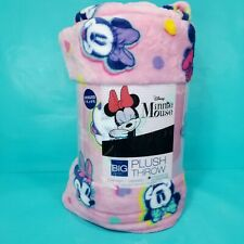 Minnie Mouse The Big One Oversized Plush Throw Blanket 5 x 6 Feet Pink Large NEW