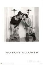 No Boys Allowed Two Hot Girls in the Men's Room Sexy Photo Poster Print - 24x36