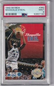 1992 Skybox Shaquille Oneal RC Rookie PSA 9 Mint #382 Rookie