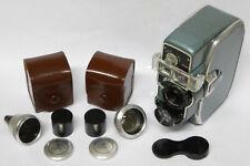 Bauer 88E schöne alte Filmkamera mit 2 Vorsatzobjektiven Sammlerstück