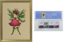 Nora Corbett Mirabilia Cross Stitch PATTERN & EMBELLISHMENT Pack THISTLE NC247