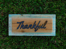 THANKFUL Rustic Wood Sign, Farmhouse Style, Fall, Thanksgiving, Kitchen Sign