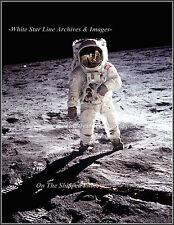 NASA Photo: Edwin Buzz Aldrin: Space Suit Reflection View, Apollo 11, 1969