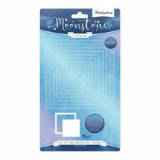 Hunkydory - Moonstone DUO-STITCHED SQUARES Nesting Die Set - 9 Dies - MSTONE453