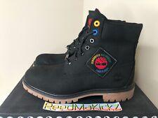 Timberland 6 inch Premium Black Waterproof Boots Patch Nubuck Mens TB0A2A5K 001