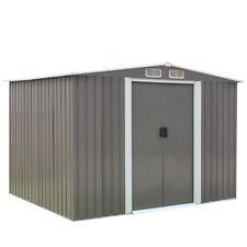 8'x6' Outdoor Garden Storage Shed Backyard Lawn Utility Metal Tool Shed Gray