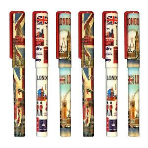 6 Union Jack Pens London scene Pen British souvenir London skyline landmark pen