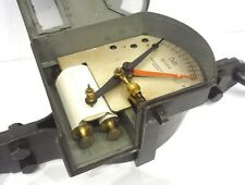 ANTIQUE & RARE RAILROAD CLOCKWORK RECORDING DYNAMOMETER BY SCHAFFER BUDENBERG