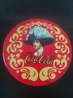 VINTAGE COCA COLA COASTER SET - 6 Cork COASTERS IN 2 PIECE TIN Coca-Cola