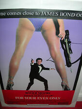 James Bond 007 - For Your Eyes Only Film Movie Poster Artwork Canvas - Sealed