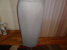 NWT $345 Voyage by Marina Rinaldi Optical jersey lined skirt in taupe size M/1X.